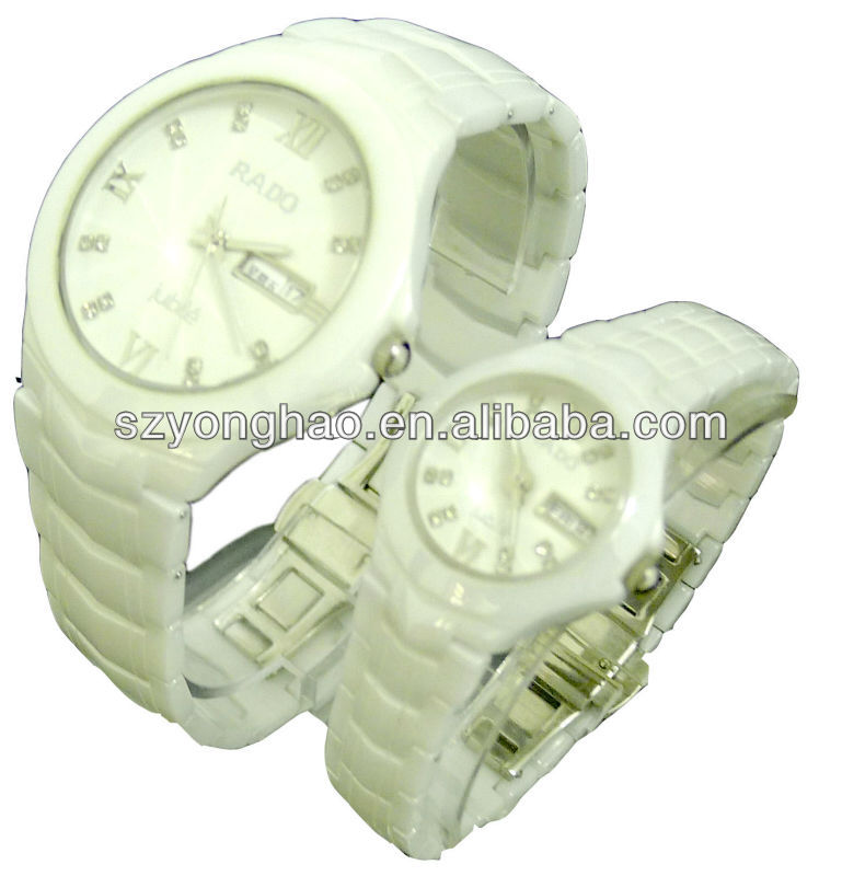 Lady stylish fashion ceramic swiss made watch