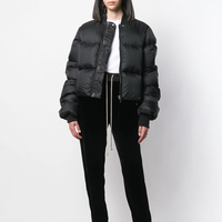 2019AW women Front Zip Up cropped puffer jacket short down jacket