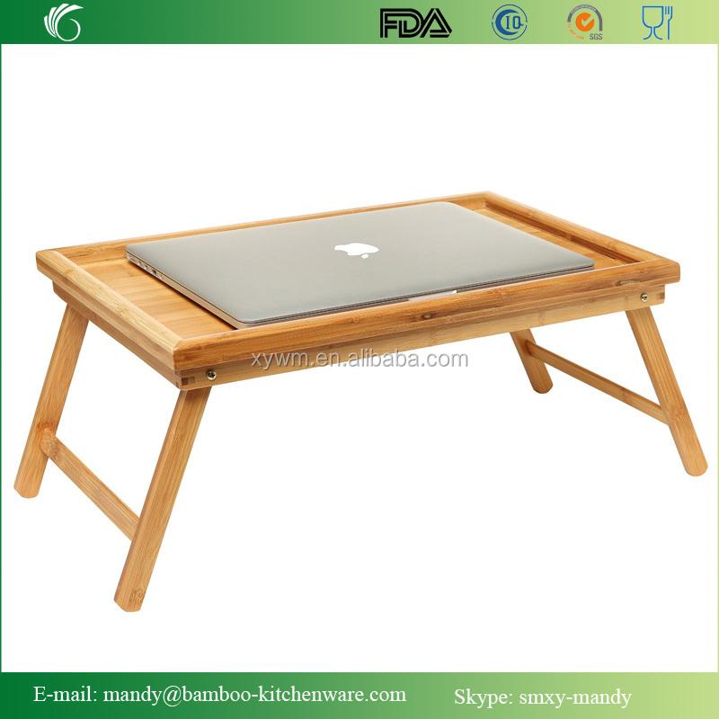 Luxueux lit de bambou plateau pour le petit d jeuner for Petit bureau pliable