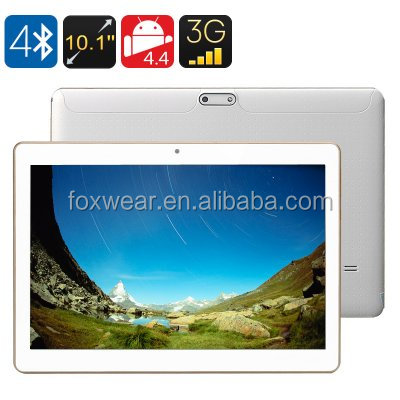 3G Android <strong>Tablet</strong> 10Inch IPS Screen Android 4.4 1GB RAM + 16GB ROM, Bluetooth 4.0 OTG
