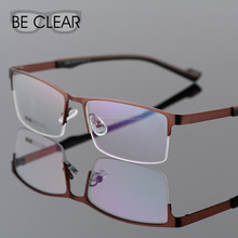 Metal Plain Clear Eye Glasses Half Rim Men Male Prescription Optical Frame Spectacle Manufatcurer Eyeglasses Frame Producer