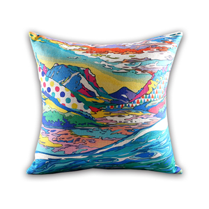 Hot sales Japanese style pillow case landscape printing Home decoration sofa car cushion cover Rectangular lumbar pillowcase