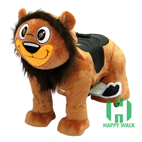 CE Standard electric animal ride,king lion animal ride for mall,coin operated animal ride