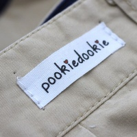 Washable 100% organic cotton print label neck clothing and private logo label for garment tags