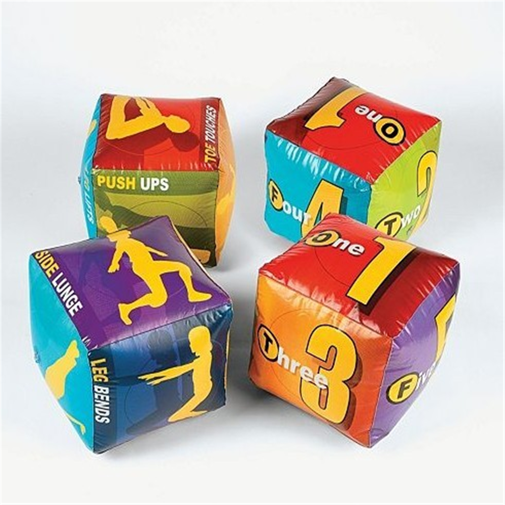 Kids education toys inflatable dice
