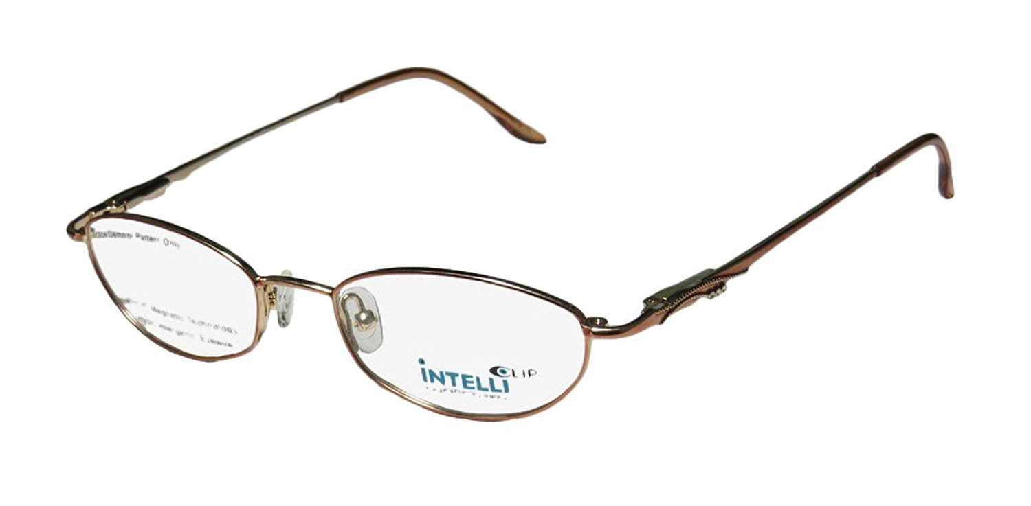 9300b67be74 Get Quotations · Elite Eyewear Intelli 750 Womens Ladies Designer Full-rim  Rhinestones Flexible Hinges Eyeglasses