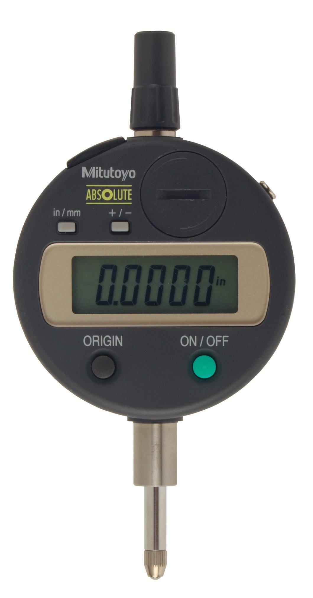 "Mitutoyo 543-791 Absolute LCD Digimatic Indicator ID-S, M2.5X0.45 Thread, 8mm Stem Dia., Lug Back, 0-0.5""/0-12.7mm Range, 0.00005""/0.001mm Graduation, +/-0.00012"" Accuracy"
