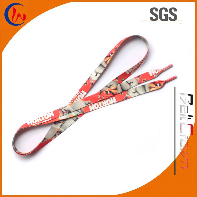 High quality custom printed recycled polyester sublimation shoelaces