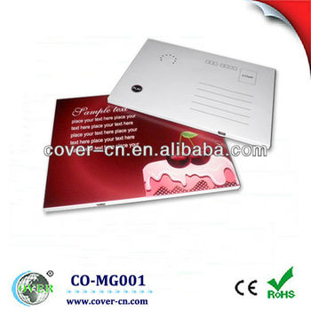 Christmas Postcard/greeting card with USB port for promotional gifts