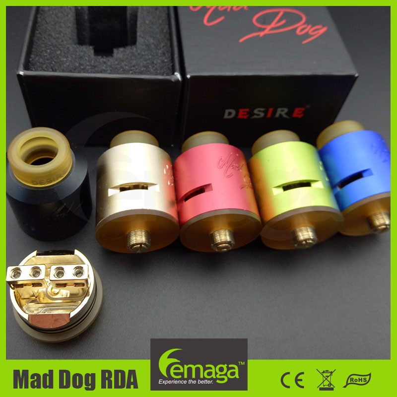 2017 Hot Lemaga Maddog Atomizer Vape wholesale Desire Mad Dog RDA 24mm in stock