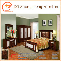 OEM wooden double bed with drawers