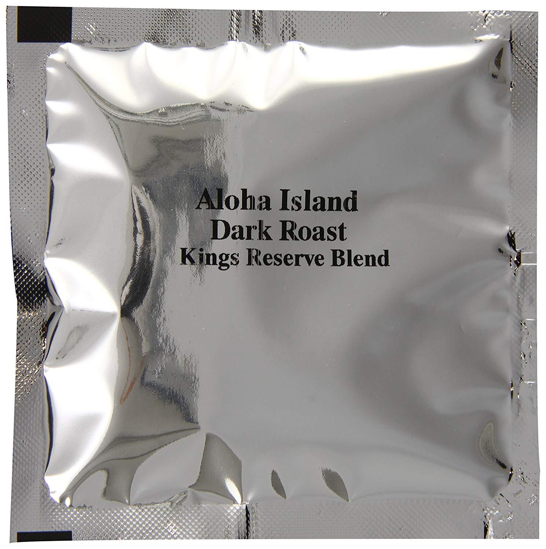 Aloha Island Kona Smooth Dark Roast Kings Reserve Hawaiian Blend Coffee Pods, 36 - 8Grams Coffee Pods