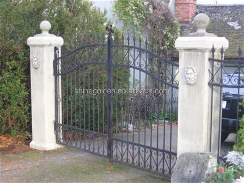en fer forg de porte pliante en aluminium portail automatique barri re de jardin porte d 39 entr e. Black Bedroom Furniture Sets. Home Design Ideas