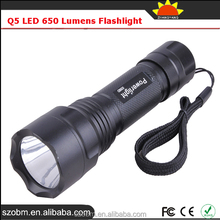 Q5 LED 650 Lumens Coon Hunting Lights Torch Fast Track Flashlight
