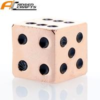 Three Color Gold Silver Copper Metal, Heavy Full Set Dice