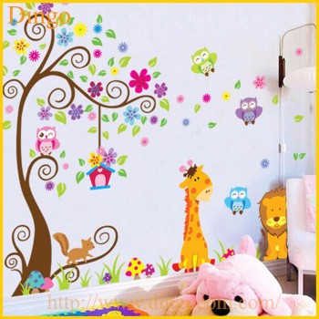 Branche d 39 arbre stickers muraux murales b b fille nursery for Sticker habitacion infantil
