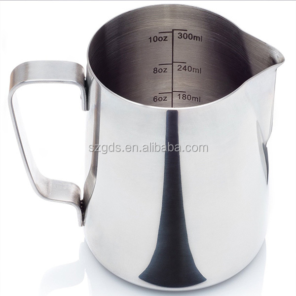 Different size Stainless SteelCoffee Garland Cup Latte Jug Craft Cappuccino Milk Tea Frothing Jug