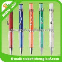 Metal spiral cap with clear rubber advertising pen