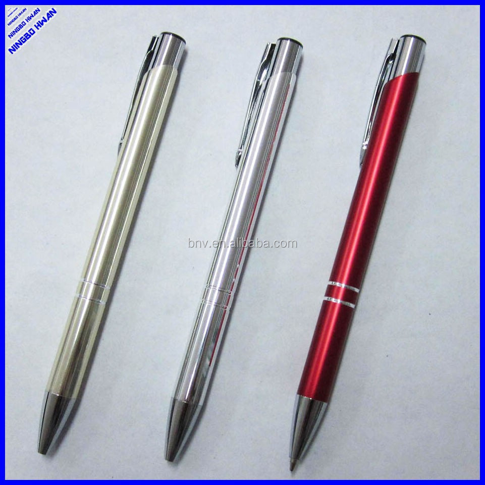 2015 hot selling quality 139mm long office aluminium ballpen