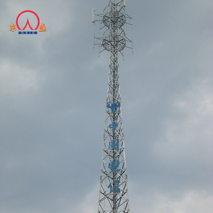 Angle iron 30 meter mobile telecommunication lattice cell phone tower