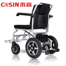 "8"" Front Solid Tyre 6km/h Driving Speed Foldable Handicapped Electric Wheelchair for Disabled"