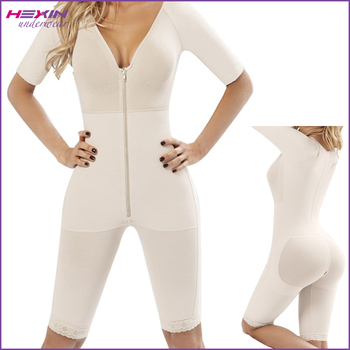 ae28313da13 Full Body Shaper Butt Lifter Zipper Front Women Slimming Suit Shapewear