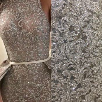 Sparkling Wedding Dress Lace Material