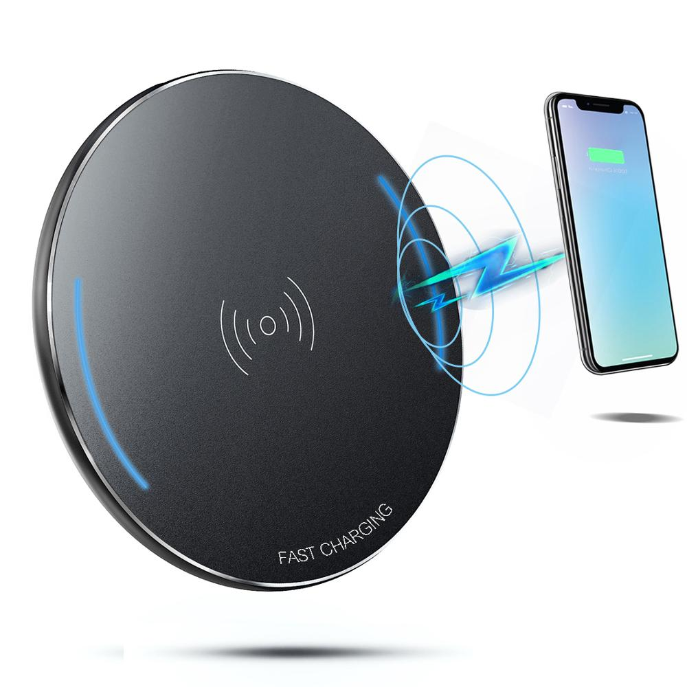Sirkuit Cordless Portable Wireless Charger Pad Ponsel QI Pengisian untuk Iphonex, Iphone 8,8 Plus, samsung GALAXY S8, S7, Note8