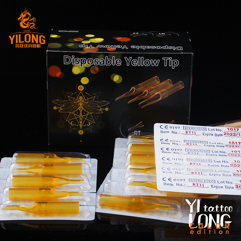 Disposable Yellow Short Tip Disposable ABS Plastic Short Tip