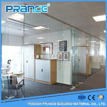 séparation de verre cloison de bureau/nouveau design décoratif en