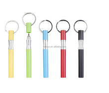 good quality smooth writing 2017 promotional pen mini keyring pen with custom logo
