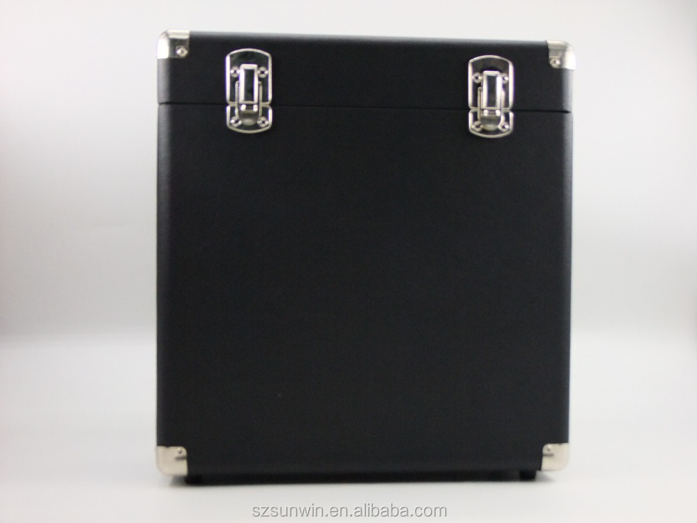 Music Portable Carry Case For Lp Records And 12-inch Vinyl Black