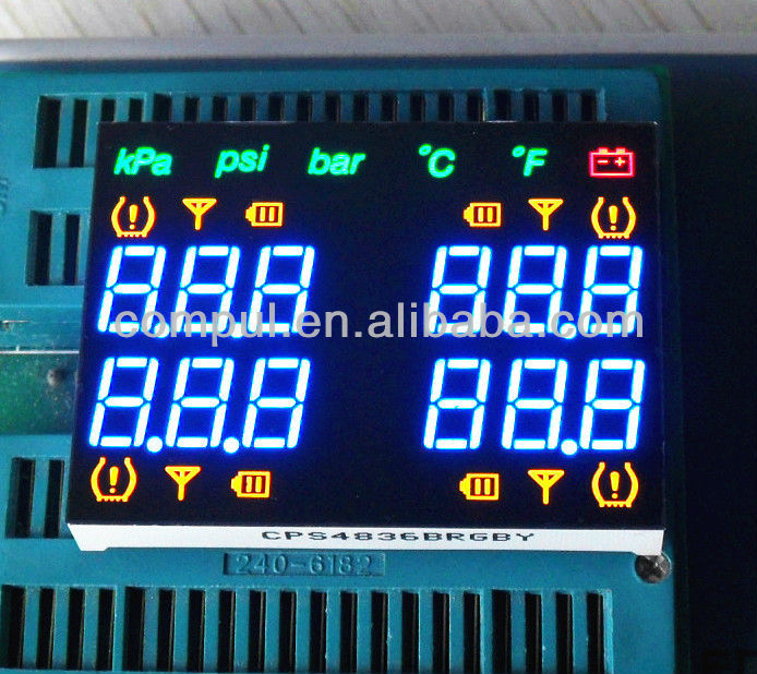 Colorful Customized 7 Segment LED Display for Car Usage