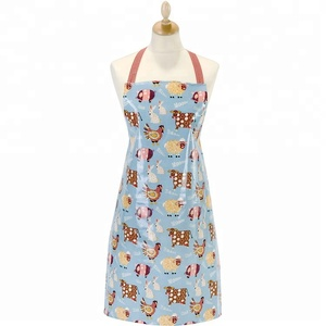 Custom plastic coated apron adjustable neck tie PVC work Apron waterproof industrial apron
