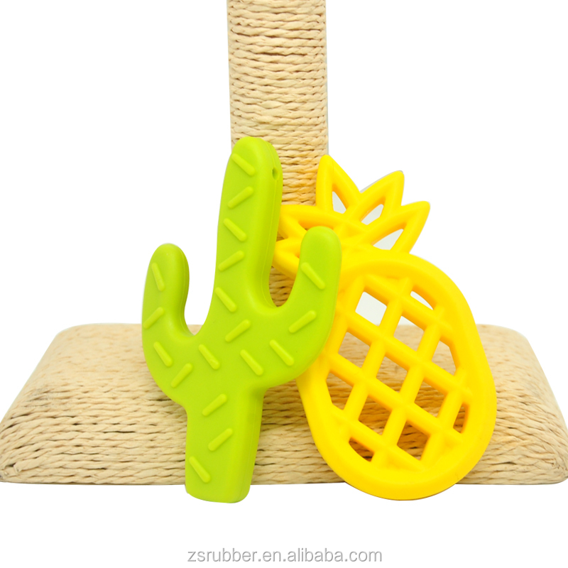 New Design  Pineapple Natural Soft Toy Silicone Baby Teether