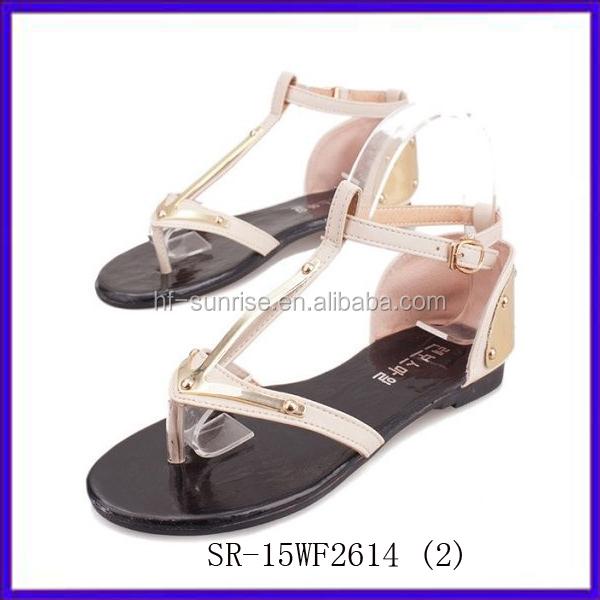 Sr-15wf2614(2) China Cheap Latest Women Flat Sandals Fashion ...