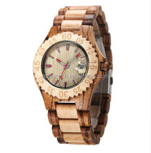 2017 Top Brand Mens Wooden Watch Vintage Watch Wood Male Quartz Watches Men Clock With Date