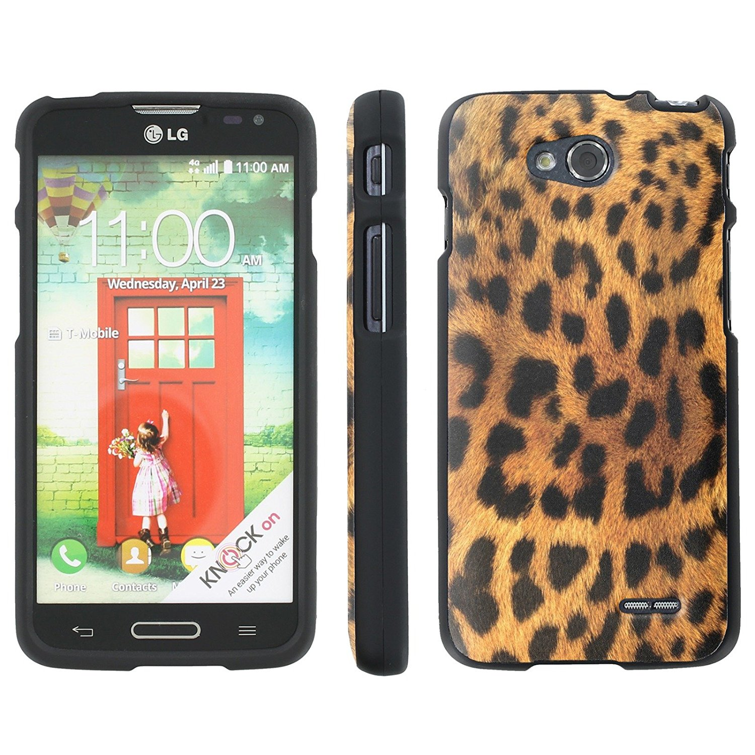 Mobiflare Slim Guard Armor Design Case for [LG Optimus L90 D415] - Cheetah Print