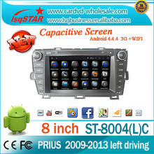 China Manufacture Android 4.4 3g wifi DVD audio radio gps navigation and bluetooth for Toyota PRIUS 2009-2013 car stereo