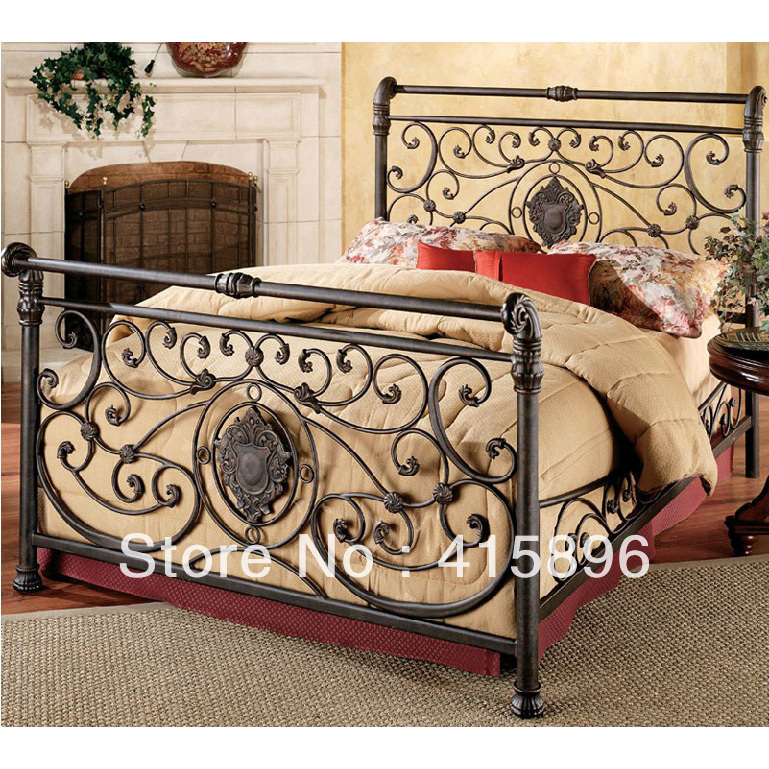 wrought iron bed frame china manufacturer factory design in metal beds from furniture on. Black Bedroom Furniture Sets. Home Design Ideas