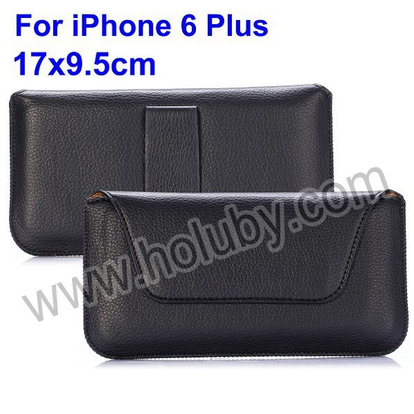 Universal Belt Clip Magnetic Flip Leather Holster Case for iPhone 6 Plus 5.5 inch
