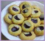 Blueberry Almon Cookies