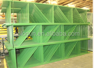 Automatic pallet rack upright powder coating line with pretreatment