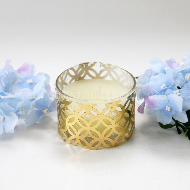 Pillar Candle With Glass Candle Containers And Candle Warmer Light