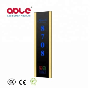 2018 Hot Selling Hotel Door Number Plates Smart Doorbell