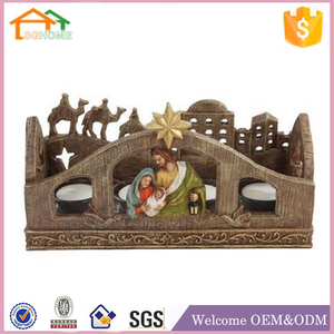 Factory Custom made home decoration polyresin resin nativity camel figurine