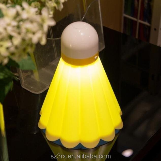 Custom Badminton Shape Led Night Light Switch