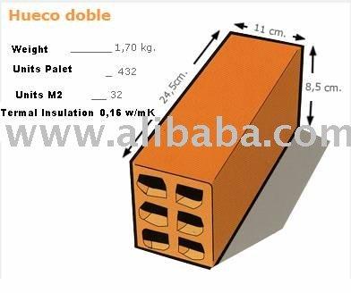 Ladrillo cer mico hueco doble ladrillos identificaci n del producto 101533495 - Ladrillo ceramico hueco ...