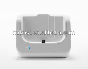 White Double USB Sync Cradle stand Desktop Dock Charger for Galaxy s4 SIV i9500