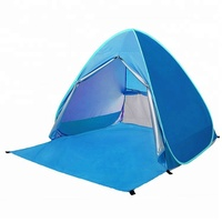 Anti Ultraviolet Light 1-2 Person Automatic Pop Up Outdoor Sun Shade Beach Tent Sun Shelter